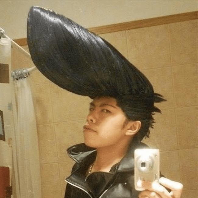 ジョジョ風の髪