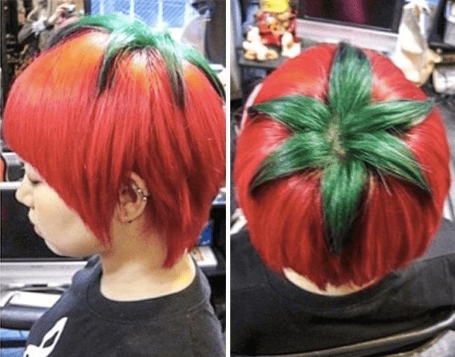 トマト風ヘアスタイル