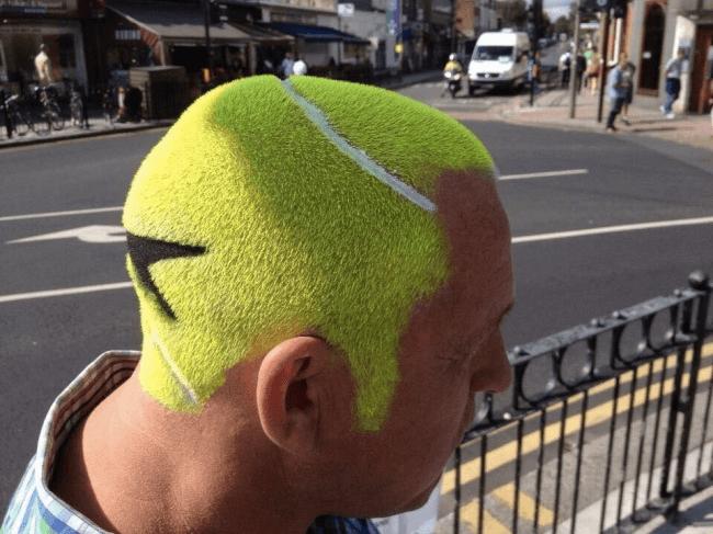 テニスボール風髪型
