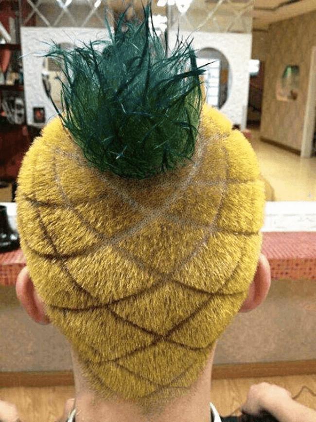 スポンジボブ風の髪型