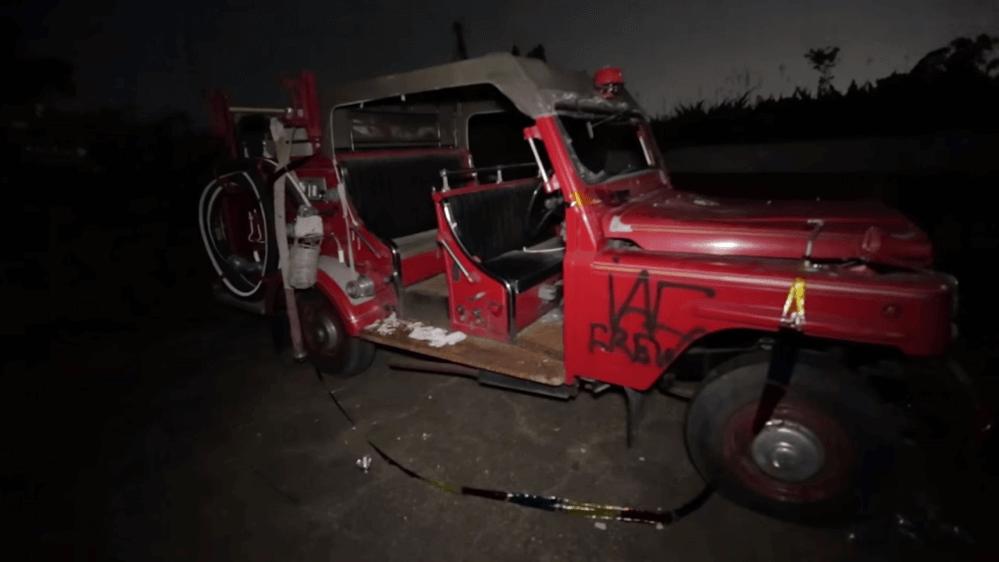 奈良ドリームランド-車の乗り物-消防車
