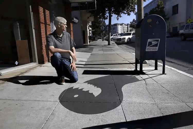 カリフォルニアの影のペイントアート