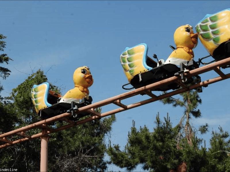韓国の遊園地-アヒルの乗り物