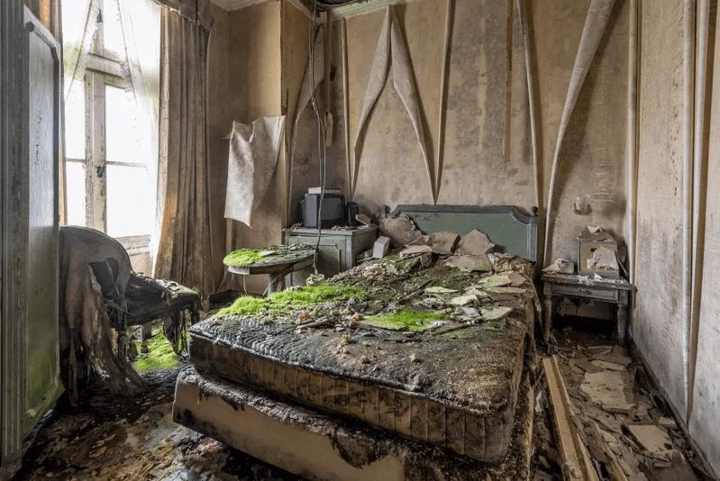 グリュック王国-ホテル内のベッド