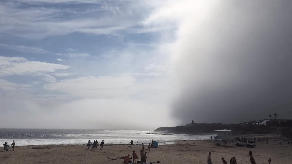 巨大な雲-カリフォルニア-サンタクルス