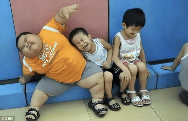 中国の太った子ども