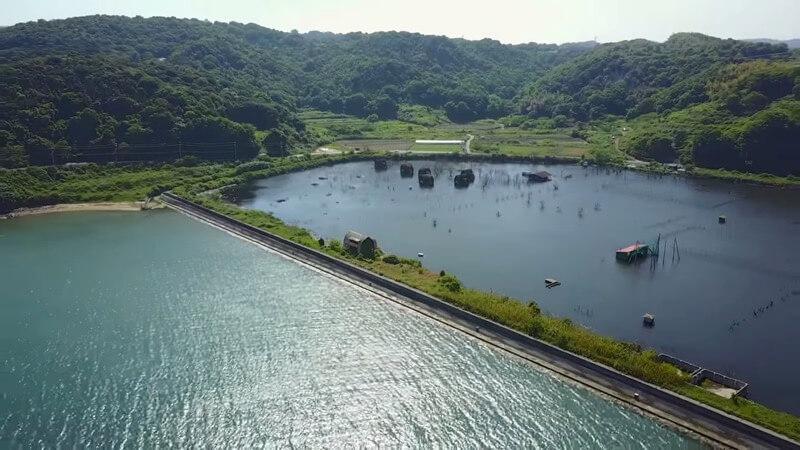 岡山県の水没したペンション村