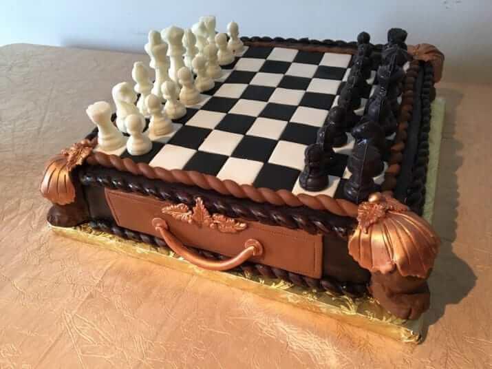 チェス型のケーキ