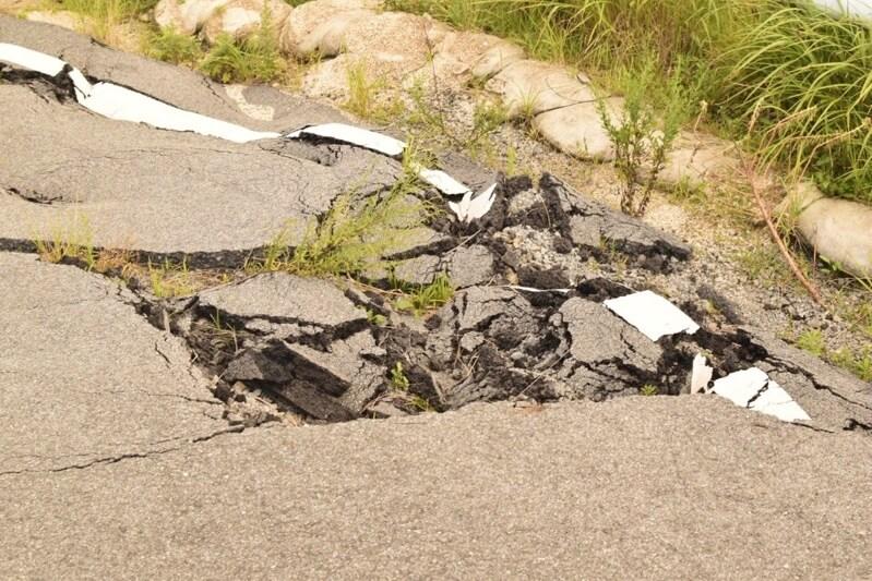 ラピュタの道の損傷