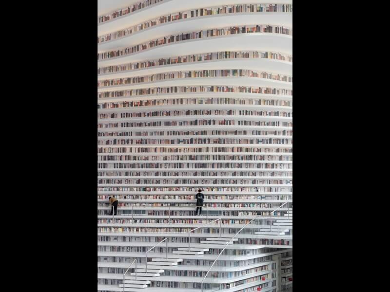 中国の浜海新区の図書館