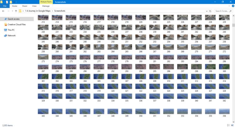 グーグルマップのスクリーンショット写真