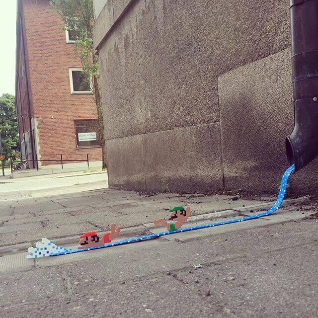 街のピクセルアート