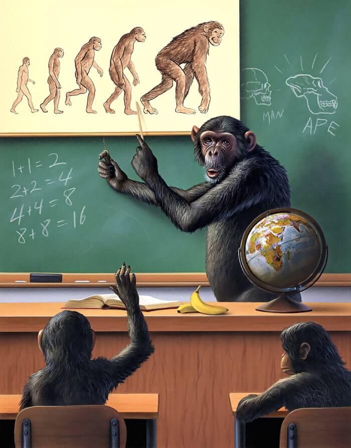 人間よりも猿が進化した世界