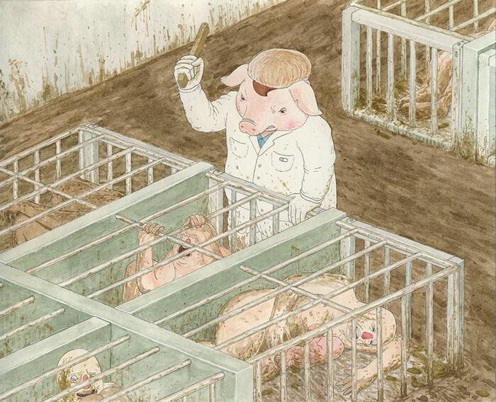 豚が管理する家畜小屋