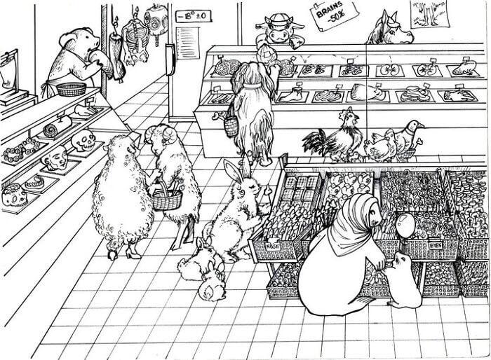 動物達の日常的買い物の様子