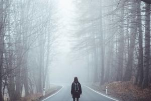 怖そうな道路