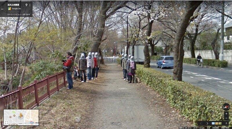 玉川上水緑道 - Google マップ-鳩人間