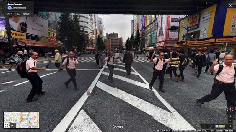 秋葉原-歩行者天国-グーグルマップ-おじさん