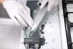 アルミホイルで作る包丁