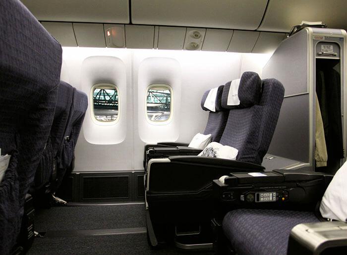 航空機の椅子