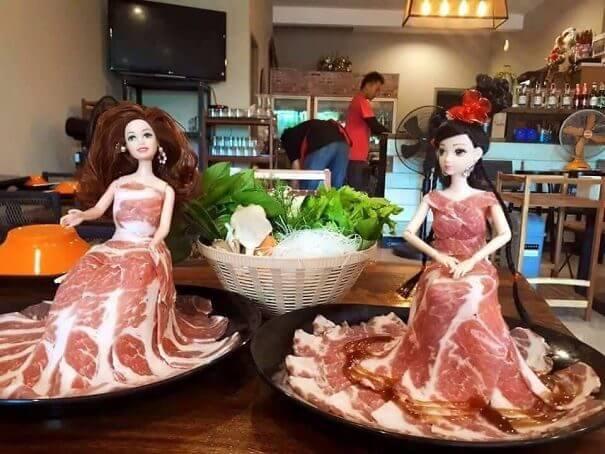 お肉なドレス