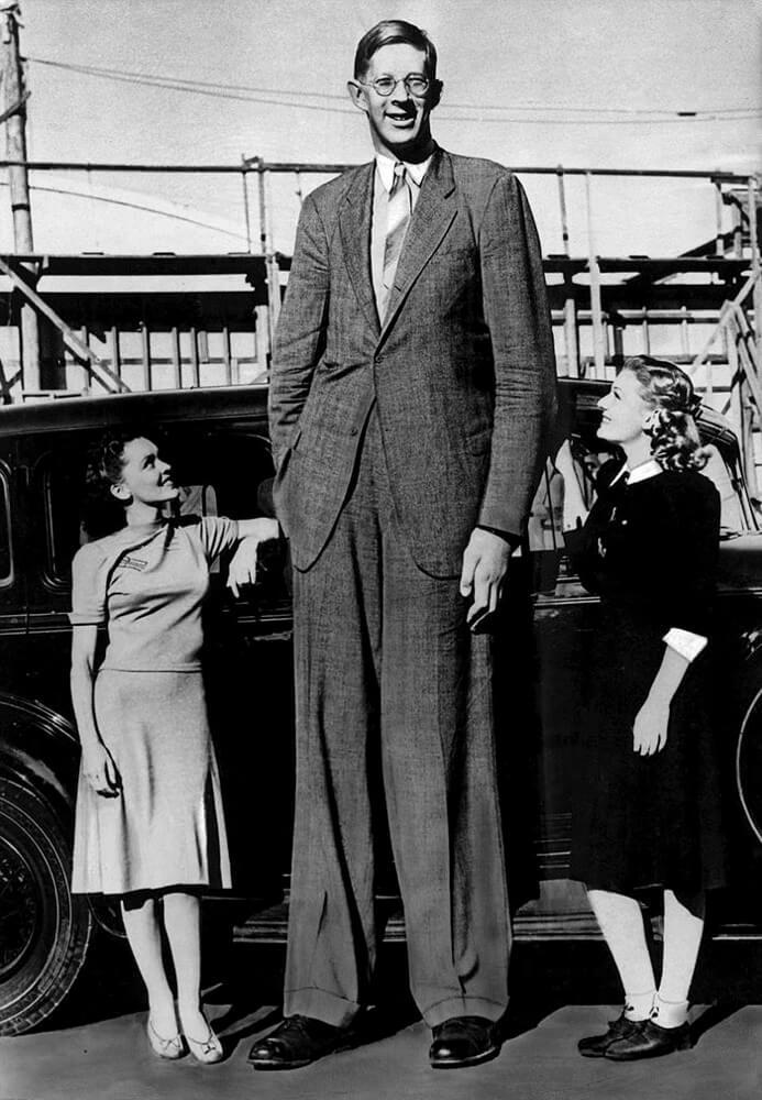 世界一身長が高い男、ロバート・ワドロー氏