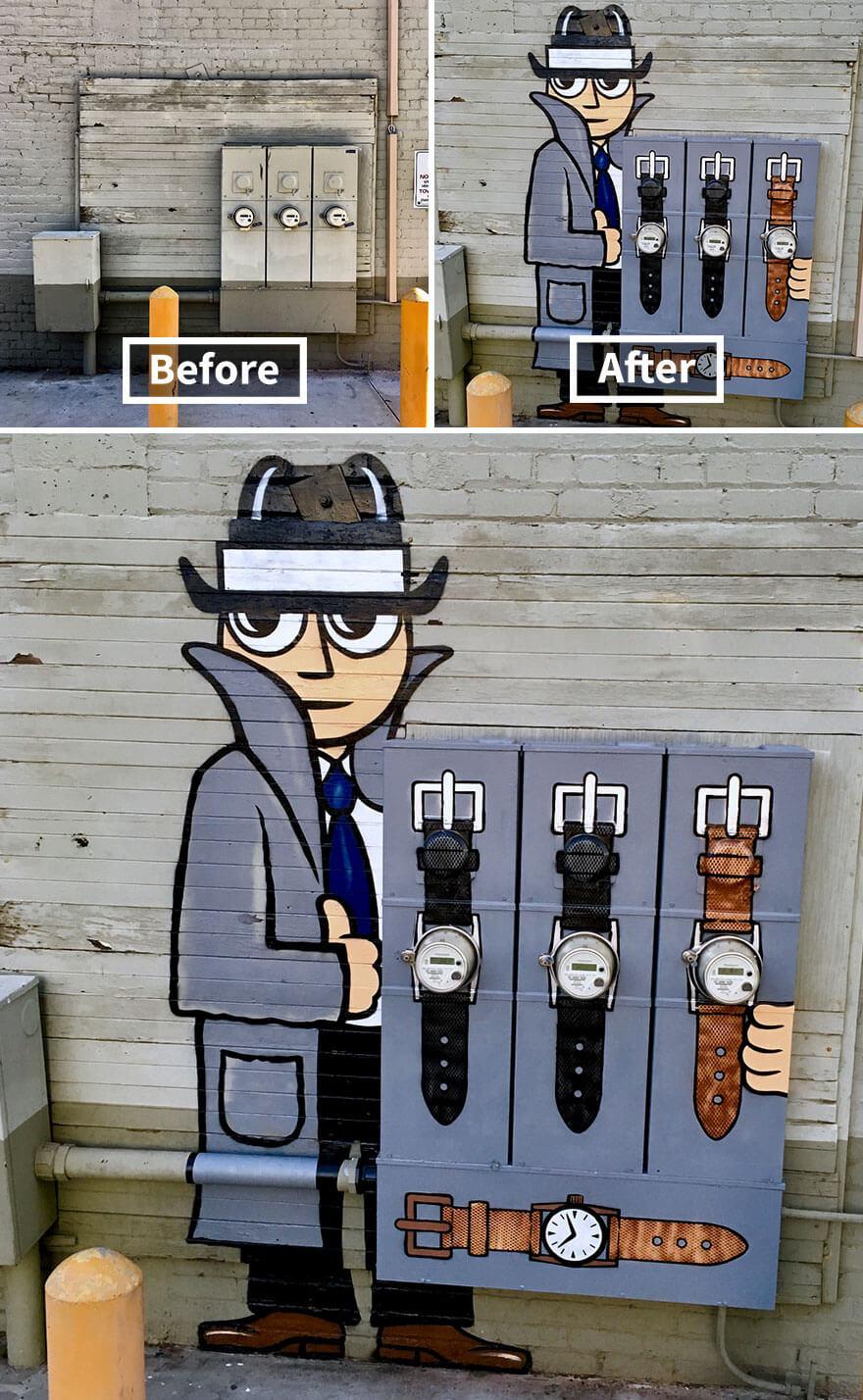 トム・ボブのストリートアート1