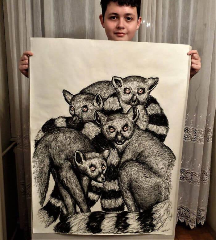 リアルすぎる動物の絵