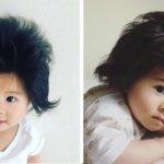 素晴らしい爆毛。半端なく髪の毛の多い赤ちゃんが海外でも絶賛