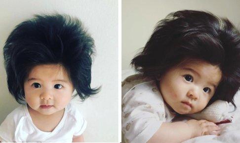 髪の毛が多い赤ちゃん