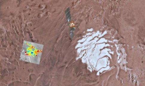 火星で発見された湖の証拠