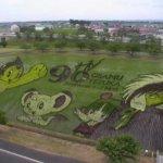 アトムからブラックジャックまで。手塚治虫生誕90周年を祝う青森県・田舎館村の田んぼアートが凄い。