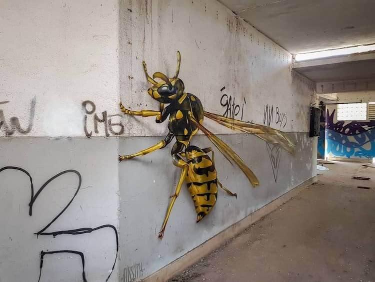 昆虫の3Dアート