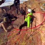 崖に巨大なハンモックを吊るして、そこから飛び降りるという発想。スペースネットジャンプが楽しそう。