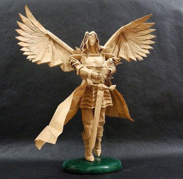 すごい折り紙アート-天使