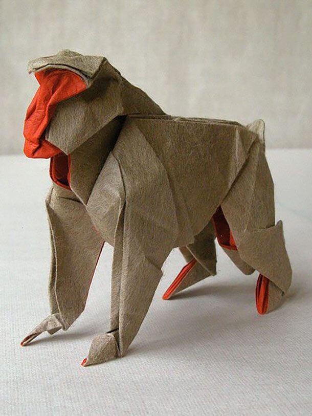 すごい折り紙アート-猿