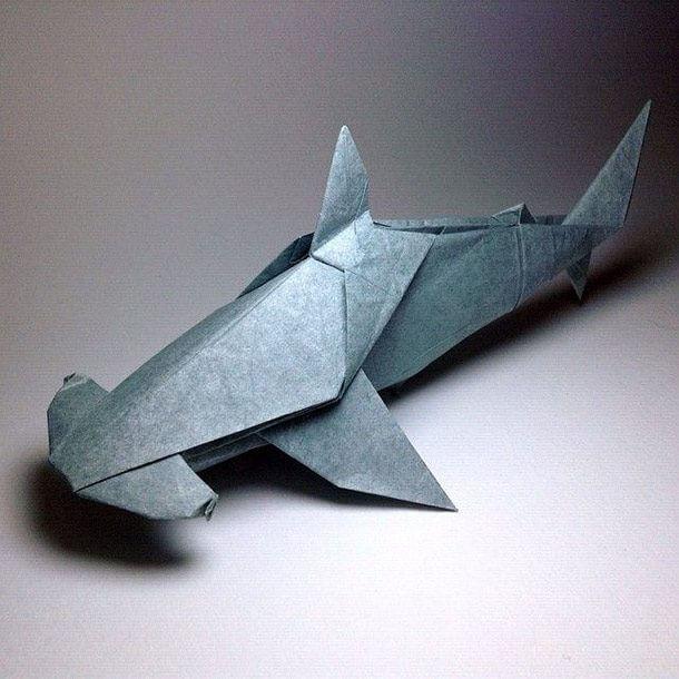 すごい折り紙アート-ハンマーヘッドシャーク