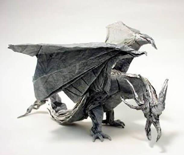 すごい折り紙アート-ドラゴン