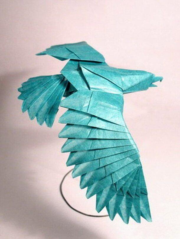 すごい折り紙アート-鷲