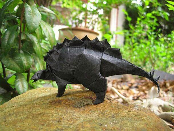 すごい折り紙アート-恐竜