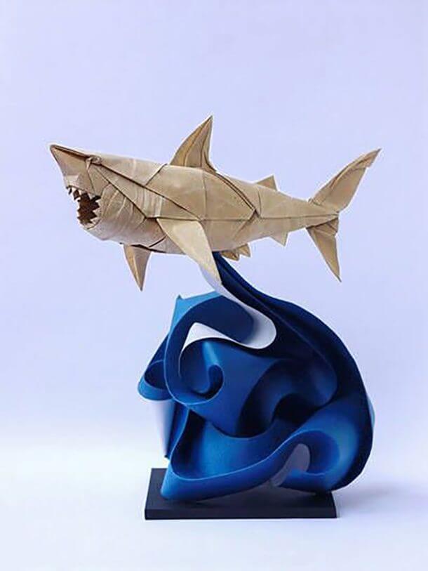 すごい折り紙アート-サメ