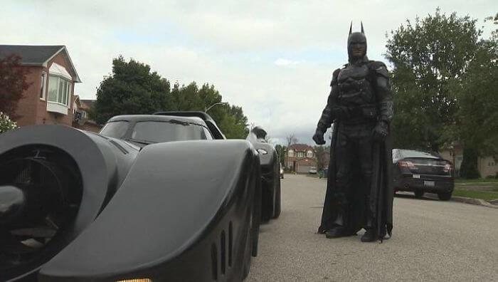 バットマンのコスプレイヤー