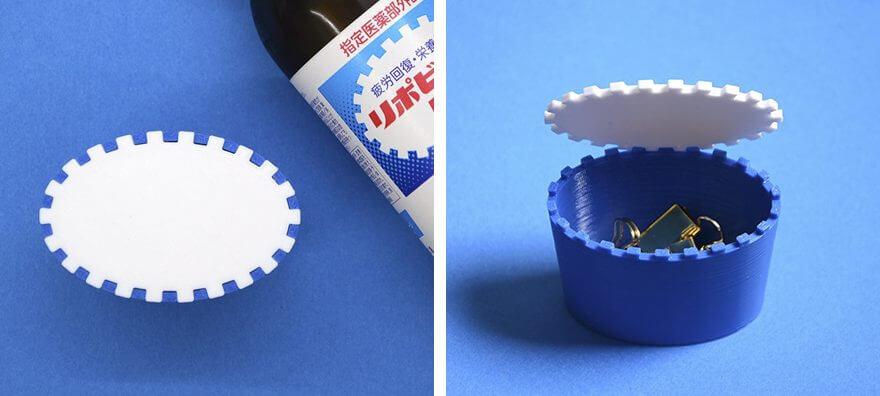 リポビタンDのロゴを3D印刷した雑貨