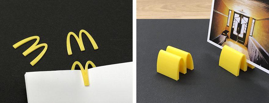 マクドナルドのロゴを3D印刷した雑貨
