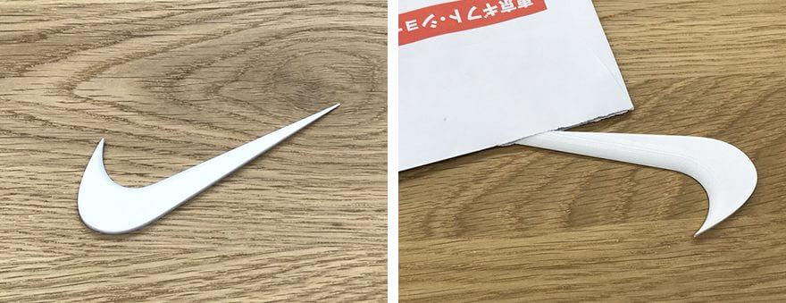 ナイキのロゴを3D印刷した雑貨