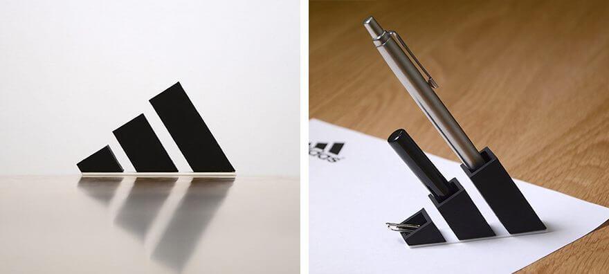 アディダスのロゴを3D印刷した雑貨