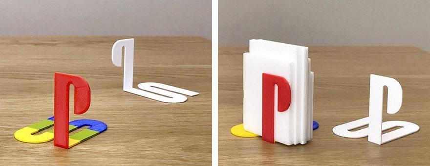 プレイステーションのロゴを3D印刷した雑貨