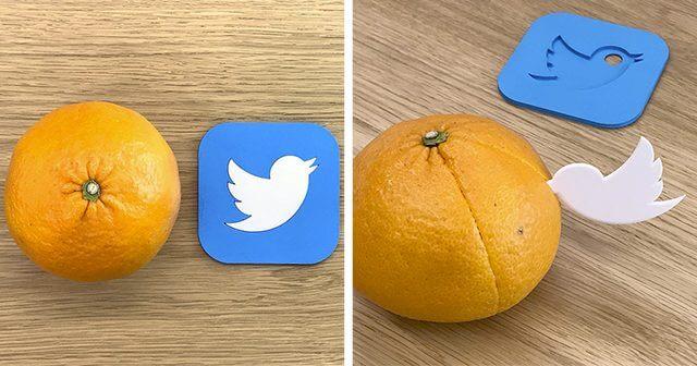 Twitterのロゴを3D印刷した雑貨