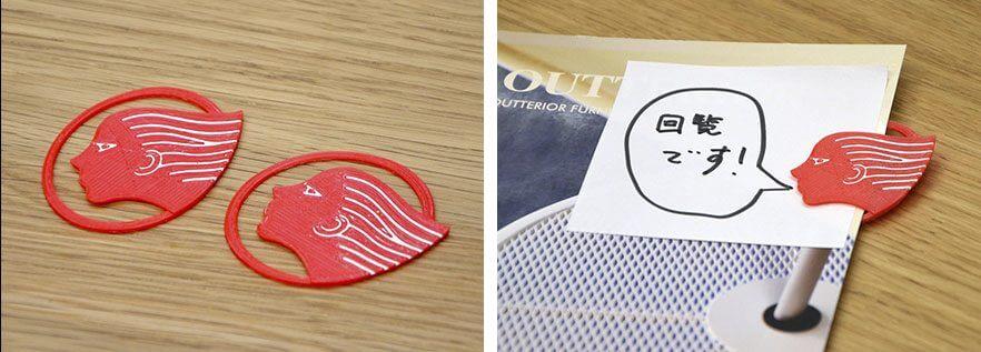 出光興産のロゴを3D印刷した雑貨