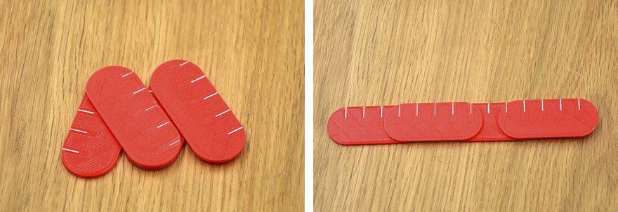 モスバーガーのロゴを3D印刷した雑貨
